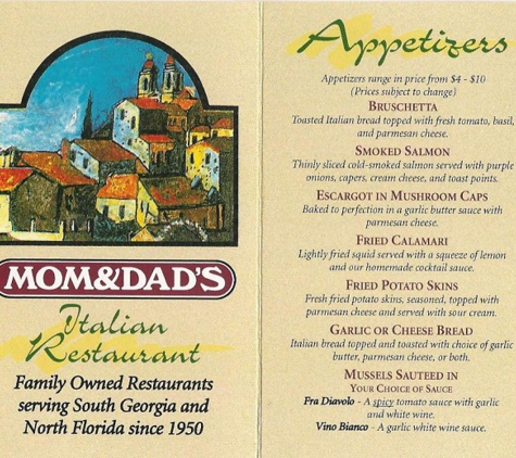 Mom and Dad's Italian Restaurant - Valdosta, GA