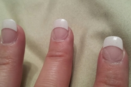 4 days after my manicure the glue becoming undone and the gel receding