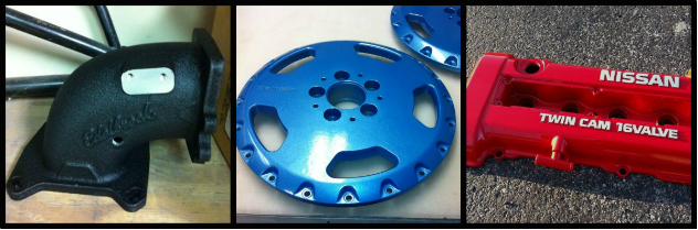 Powder Coating Metal Auto Parts