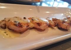 California Fish Grill - Palmdale, CA. Garlic butter shrimp skewer