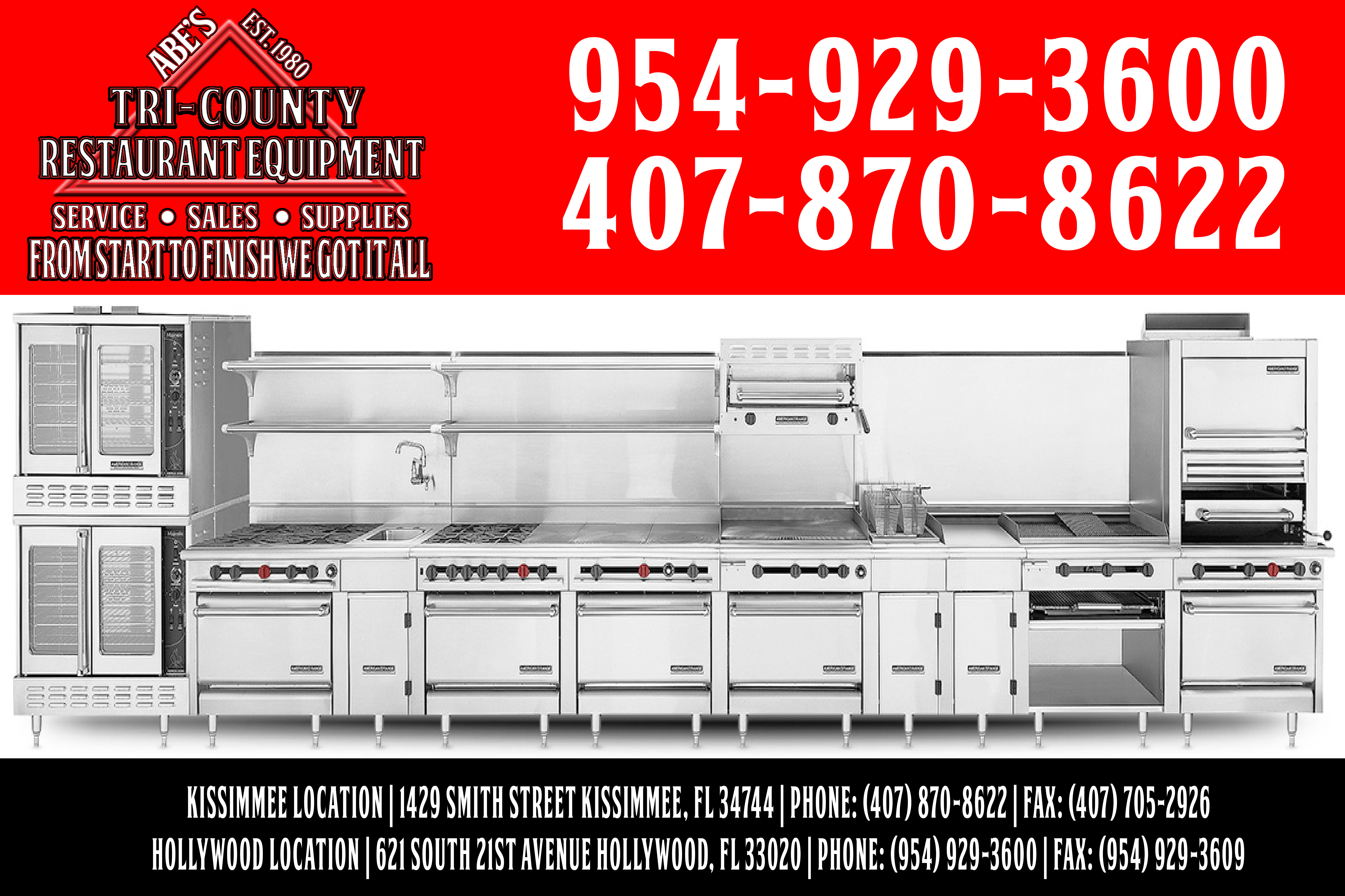 abes restaurant equipment and supplies hollywood fl yp