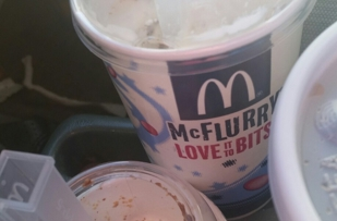 McDonald's in iron river only fills up their mcflurrs that I almost pay $3.00 a peice for doesn't even fill them up.  Manager was rude