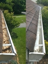 Gutter Cleaning on Bloomfield, NJ before and after