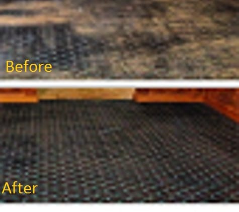 Industrial carpet before&after