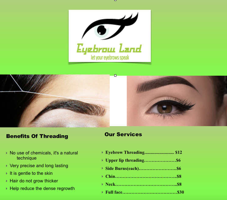 Eyebrow Land Mesa Plaza 7930 N Mesa St Suite B2 El Paso Tx 79932