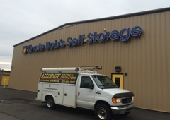 Accurate Electrical Contractors. Wiring for outside sign on a time clock. Self storage facility.