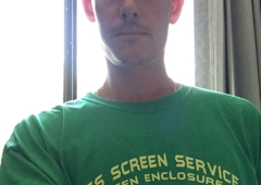Lee's Screen Service of Jacksonville, FL - Saint Johns, FL. Look for us in our new team shirts in various colors  (Model unknown)