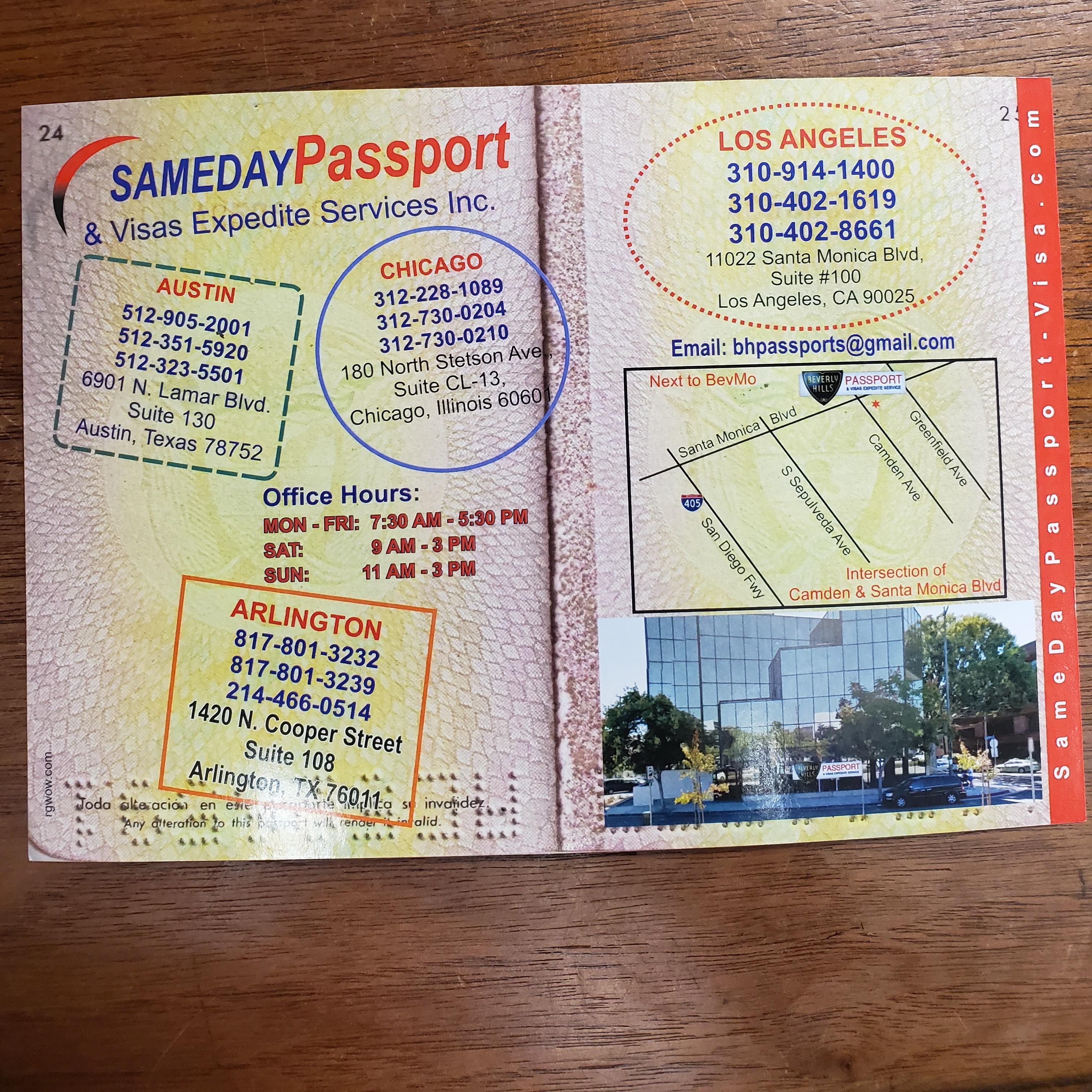 Sameday Passport Visa Expedite Services 1420 N Cooper St Ste 108 Arlington Tx 76011 Yp Com