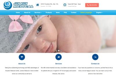 Grace Computer & Internet Corp. - Houston, TX. Grace Computer web design for Junkun Medical