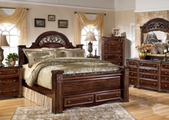 1stopbedrooms.Com - New York, NY. Review 1StopBedrooms products - Gabriela Poster Storage Bedroom Set