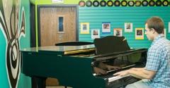 Music Scene - Andover, KS. Beautiful Grand Piano