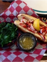 Lobster Roll and Spinach