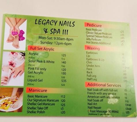 Legacy Nails & Spa - Savannah, GA