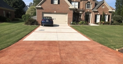 CTI Resurfacing of Georgia - Roswell, GA. note the uneven colors