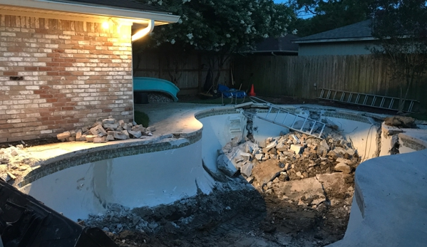 Doty Pool Destruction - Houston, TX. After the 1st Day