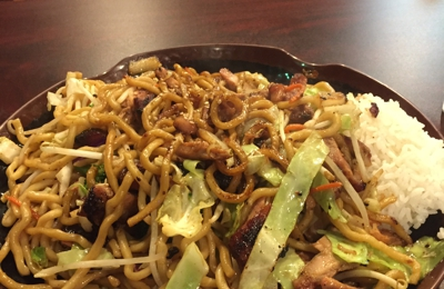 I Love Teriyaki - Roseville, CA. Their food is very flavorful and yummy. Cooked to order. My hubby and I share the chicken noodle bowl and it's huge!  Definitely enough food for 2 people.