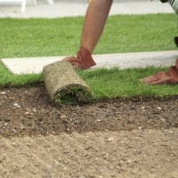 Installing Sod Delivered by A&N Sod Supply Inc.