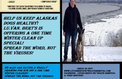 LuVan Berts Pet Waste Removal & Yard Service - Anchorage, AK. Pet waste removal