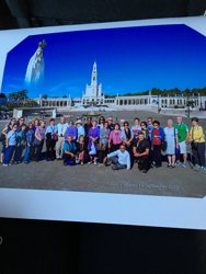 Fatima,Portugal with our group of pilgrims!
