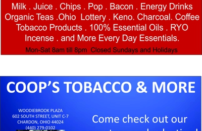 Coop's Tobacco & More - Chardon, OH