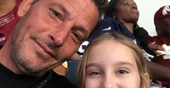 Make It Rain Marketing - Mckinney, TX. Relaxing at the Redskins and Cowboys game with my daughter