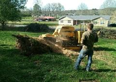 Tree Pros LLC - Remlap, AL. Big stumps no match for our grinder!