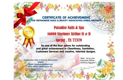 Paradise Nail Spa - Spring, TX