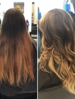Wonderful color transformation with an amazing blow dry style