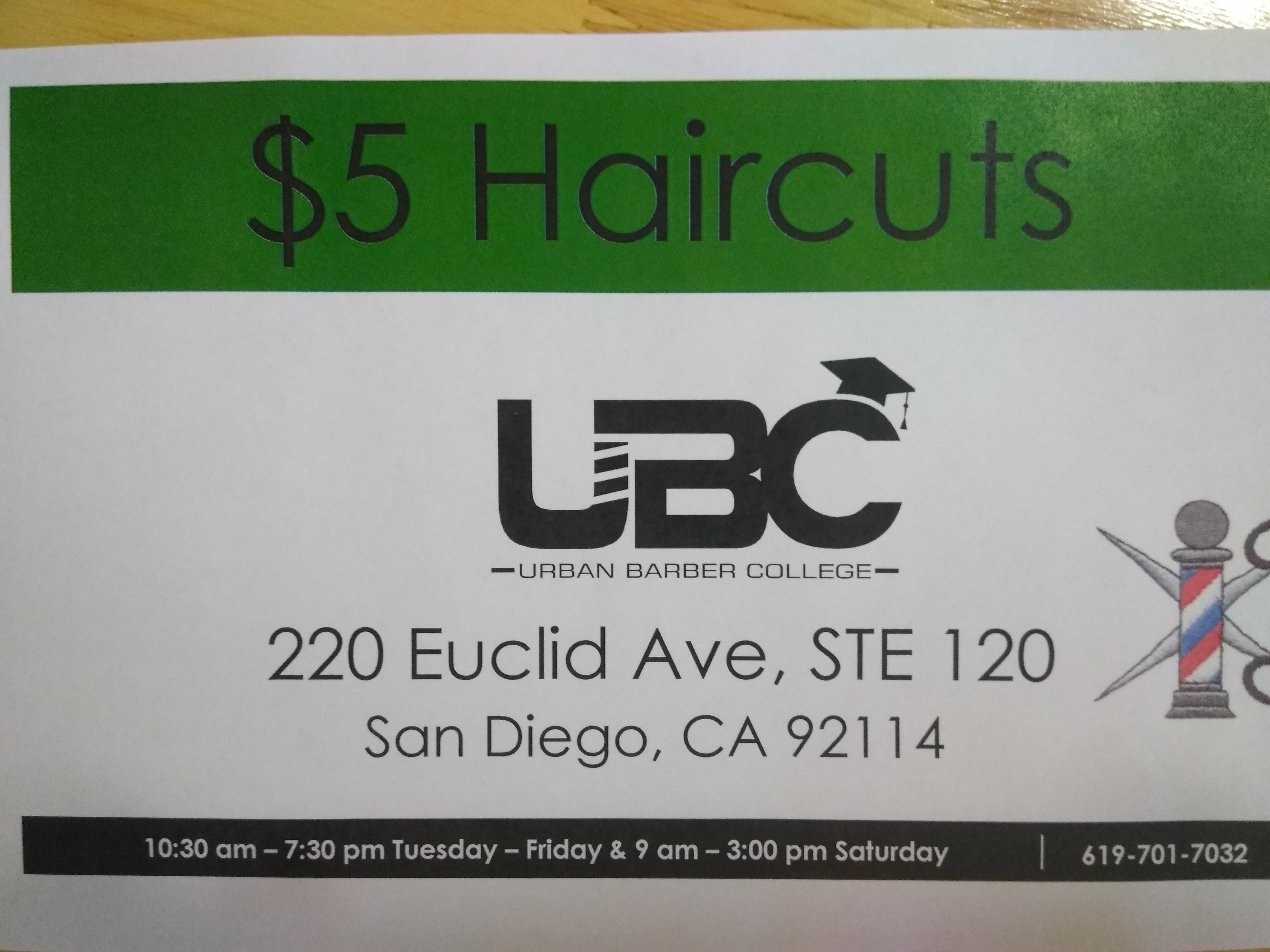 Urban Barber College San Diego 220 Euclid Ave Ste 120 San Diego Ca