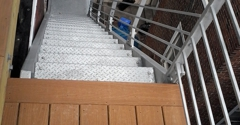 Elite Modern Construction - Philadelphia, PA. Galvanized Stairs Leading to Rooftop