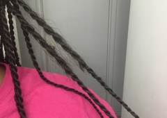 Diva's African Hair Braiding - San Antonio, TX. Someone else in the shop