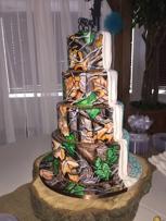 Bride and Groom camo wedding cake!