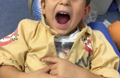 Pediatric Dentistry Of Pleasant Hill - Pleasant Hill, CA. JW after his filling!