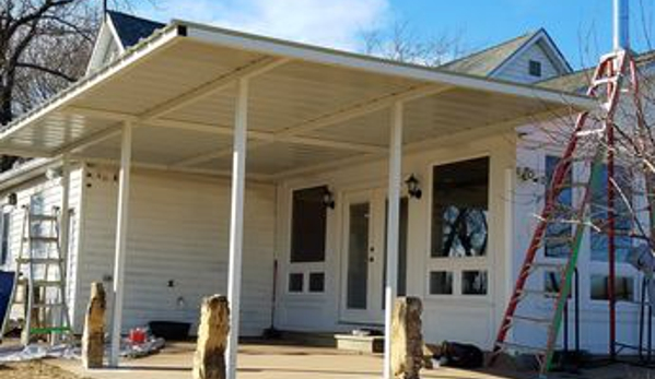 Nelsen Construction LLC - Wichita, KS. Metal Awning Addition