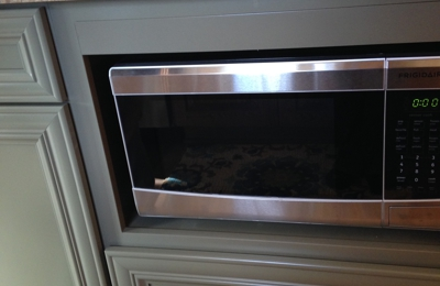 Cabinet World   Olean, NY. Base Microwave To Leave Room For A Stainless Hood