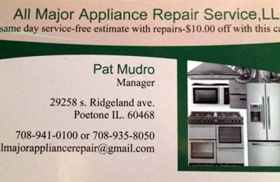 All Major Appliance Repair Service, L.L.C. - Peotone, IL