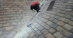 Shook Roofing Co - Pittsburgh, PA. Slate roof repairs/refurbish.