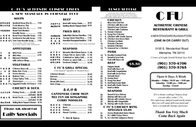 C Fu Chinese Restaurant & Grill - Memphis, TN