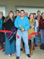 Ribbon cutting for my business in Wimberley, Tx November, 2016.