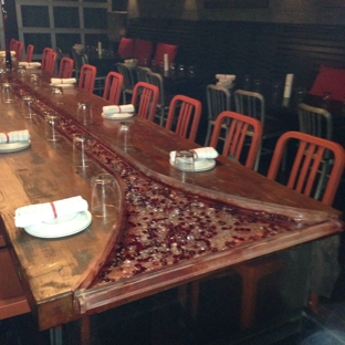 Two Urban Licks - Atlanta, GA. The river or marbles sculpted inside the table is divine. This room is perfect for a fancy birthday party!!!