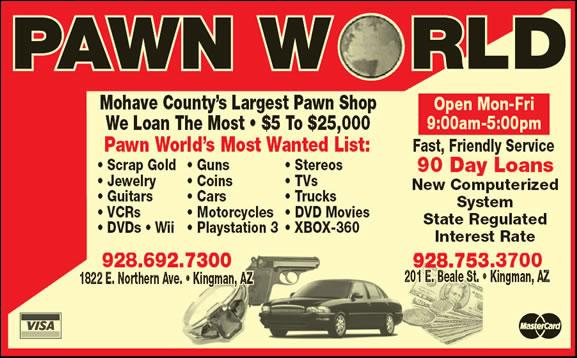 Pawn World 201 E Beale St, Kingman, AZ 86401 - YP com