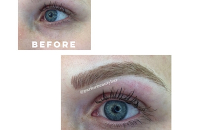 Parlor Beauty Bar - Austin, TX. Microblading -  before/after