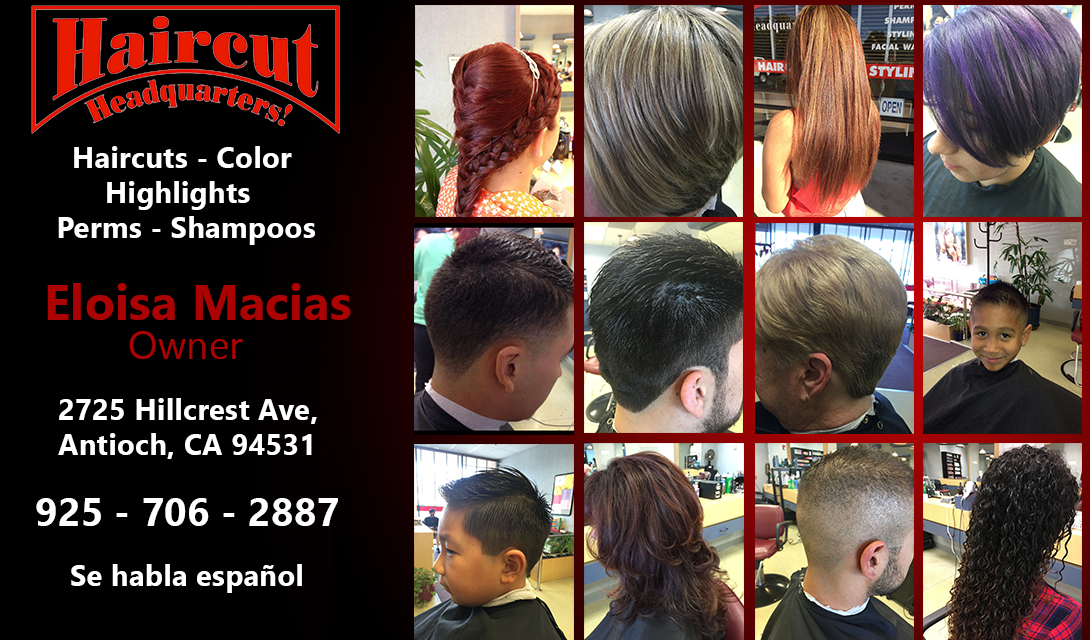 Haircut Headquarters 2725 Hillcrest Ave Antioch Ca 94531 Yp
