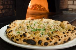 Pizzeria Brunetti brick oven pizza
