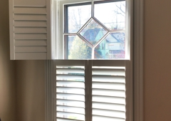 DC Interiors - Glenside, PA. Double hung plantation shutter