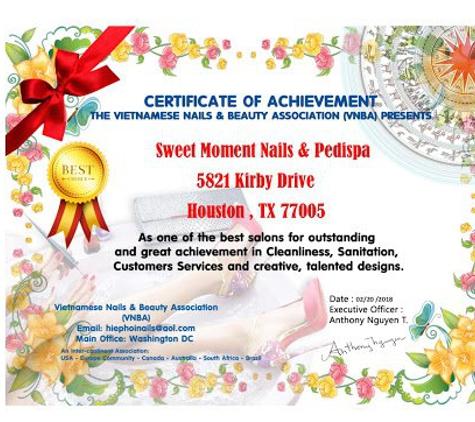 Sweet Moment - Houston, TX