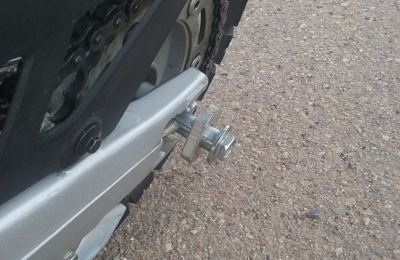 Sun Country Cycles & Equipment - Farmington, NM. THEY FORGOT TO TORQUE MY AXLE NUT. I ALMOST CRASHED!!!