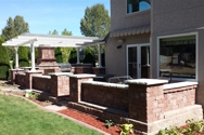 Raised paver patio