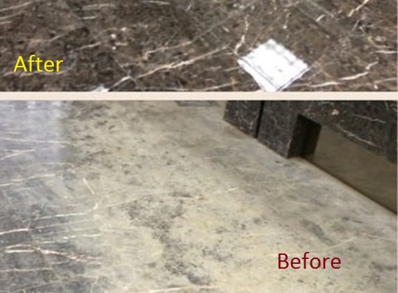 Granite Polish Before & AFter
