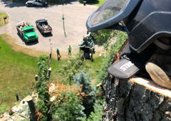 Quinlan Tree Service - Milford, MI. Large Pine Removal